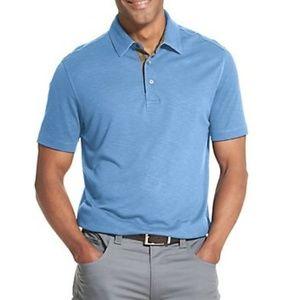 B2G1 Van Heusen Air Fit Short Sleeve Blue Polo